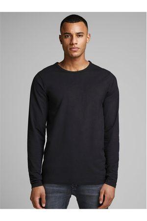 JACK & JONES Černé basic tričko s dlouhým rukávem