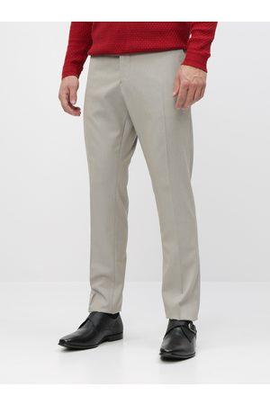 SELECTED Béžové oblekové slim fit kalhoty Maze Saint