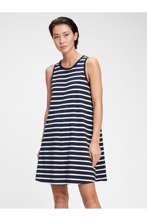 GAP Barevné dámské šaty sleeveless swing dress