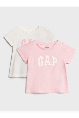 GAP Růžové holčičí tričko Logo 2-Pack