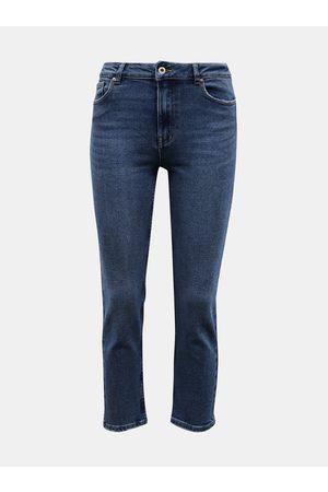 ONLY Modré zkrácené straight fit džíny Erica