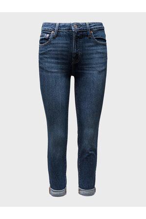 GAP Modré dámské džíny mid rise universal slim boyfriend jeans