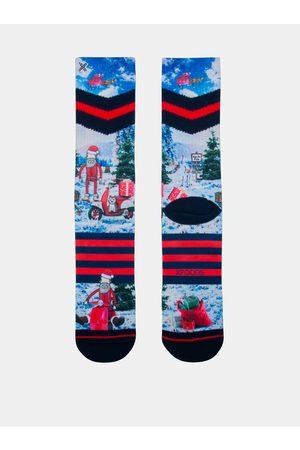 Xpooos Červeno-modré pánské ponožky