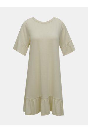 VERO MODA Krémové volné šaty Violetta