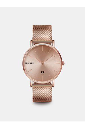 Millner Dámské hodinky s nerezovým páskem v růžovozlaté barvě Mayfair