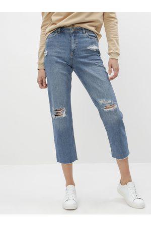 Miss Selfridge Modré straight fit džíny