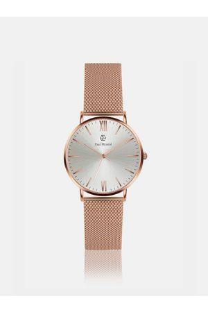 Paul McNeal Dámské hodinky s nerezovým páskem v růžovozlaté barvě