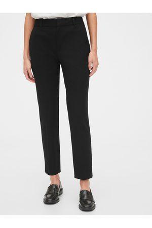 GAP Černé dámské kalhoty slim ankle pants