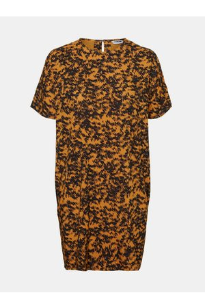 Noisy May Oranžové vzorované volné šaty Cille
