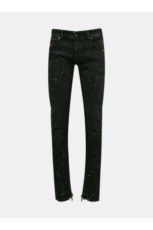 Diesel Černé pánské skinny fit džíny