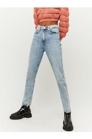 Tally Weijl Světle modré zkrácené straight fit džíny