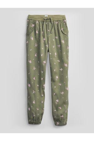 GAP Zelené holčičí dětské kalhoty v-cargo jogger