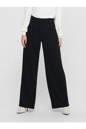 JACQUELINE DE YONG Černé široké kalhoty Geggo