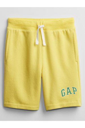 GAP Žluté klučičí dětské kraťasy Logo v short