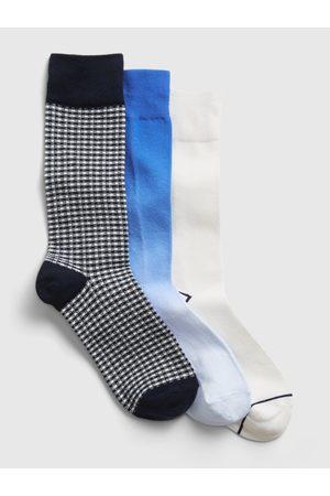 GAP Modré pánské ponožky crew socks, 3 páry