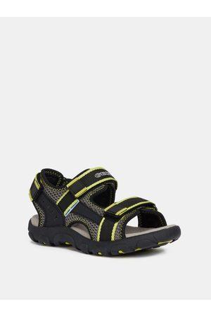 Geox Zeleno-černé klučičí sandály
