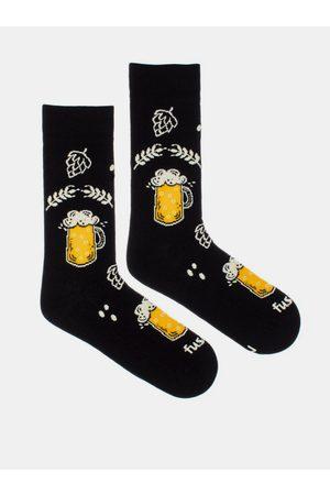 Fusakle Černé vzorované ponožky Chmelová brigáda