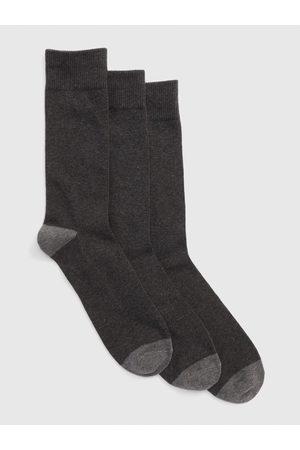GAP Šedé pánské ponožky crew socks, 3 páry