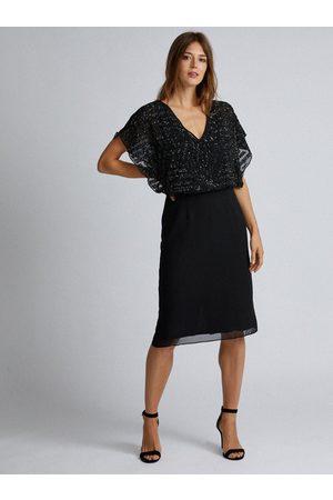 Dorothy Perkins Černé šaty s flitry