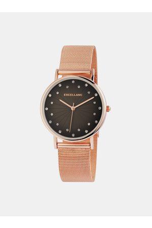 Excellanc Dámské hodinky s nerezovým páskem v růžovozlaté barvě