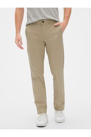 GAP Béžové pánské kalhoty modern khakis in straight fit with Flex