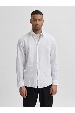 SELECTED Košile s příměsí lnu