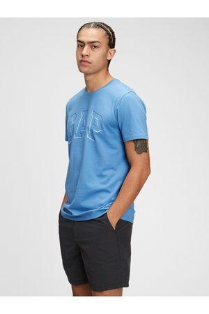 GAP Modré pánské tričko Logo raised arch t