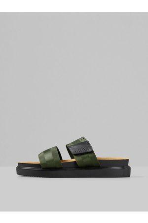 Vagabond Tmavě zelené pánské pantofle Seth