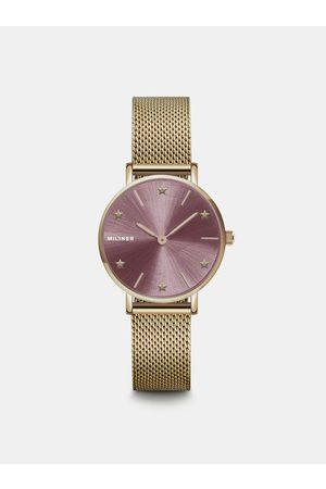 Millner Dámské hodinky s nerezovým páskem ve zlaté barvě Cosmos