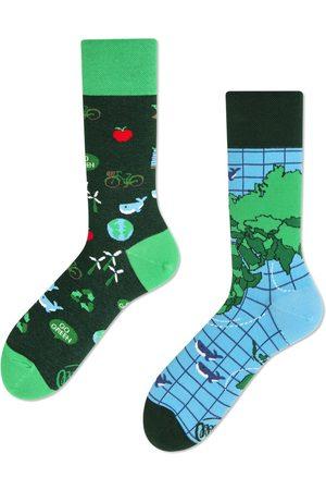 Many Mornings Ženy Ponožky - Zelené ponožky Save The Planet