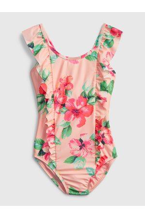 GAP Růžové holčičí dětské plavky princess rufl