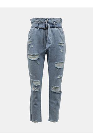 Tally Weijl Světle modré slim fit džíny s potrhaným efektem