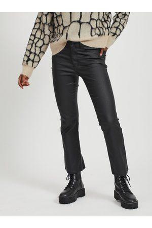Object Černé koženkové kalhoty