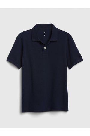 GAP Modré klučičí dětské polo tričko