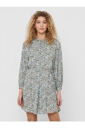 ONLY Světle modré květované volné šaty Kendall