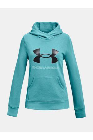 Under Armour Mikina Rival Fleece Logo Hoodie-BLU