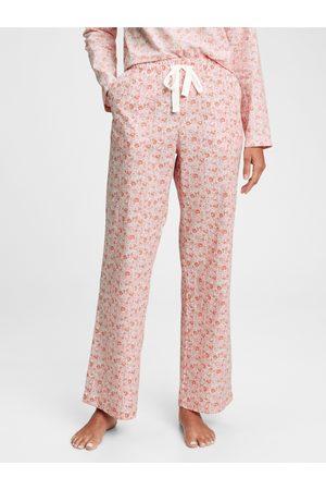 GAP Růžové dámské pyžamové kalhoty poplin pajama pants