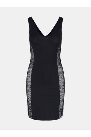 Pieces Černé tvarující šaty Ella