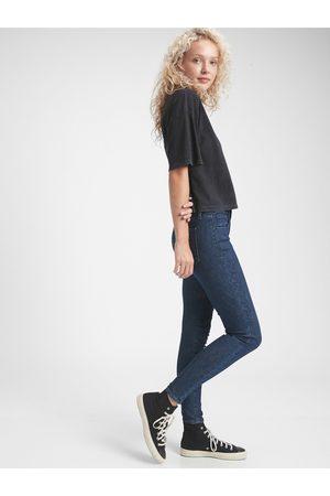 GAP Modré dámské džíny jegging mid rise universal