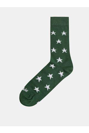 Fusakle Zelené vzorované ponožky Hvězda