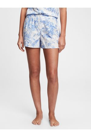 GAP Modré dámské pyžamo vé kraťasy poplin shorts