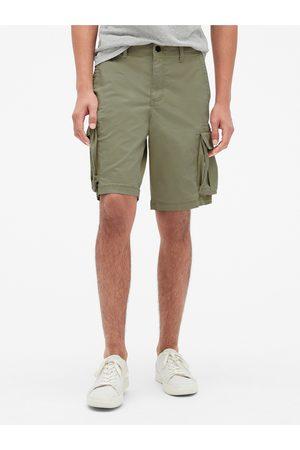 "GAP Zelené pánské kraťasy 11 Twill Cargo Shorts with Flex """