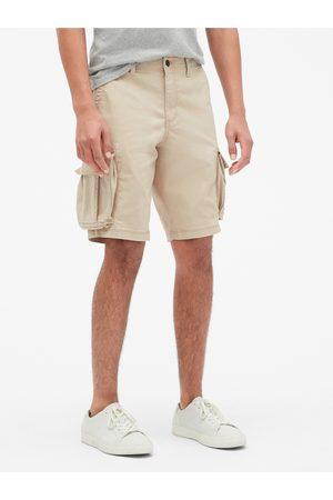 "GAP Béžové pánské kraťasy 11 Twill Cargo Shorts with Flex """