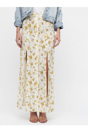 Miss Selfridge Květovaná maxi sukně s rozparky