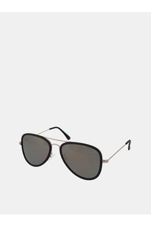 crullé Černé sluneční brýle