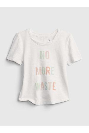 GAP Bílé holčičí dětské tričko gen good graphic t-shirt