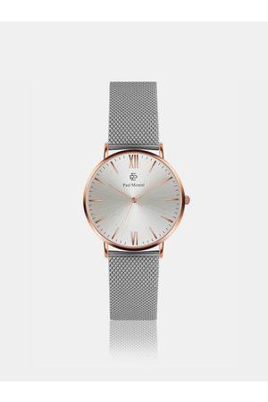 Paul McNeal Dámské hodinky s nerezovým páskem ve stříbrné barvě