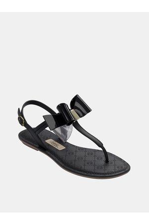 Grendha Černé sandály s mašlí