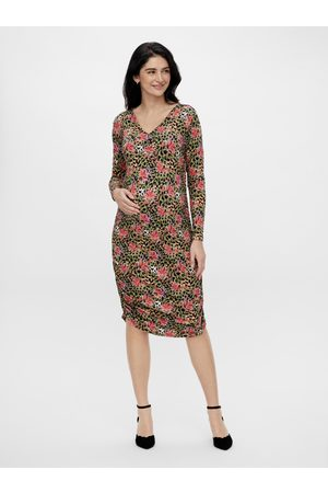 Mama Licious Těhotenské vzorované pouzdrové šaty Charo
