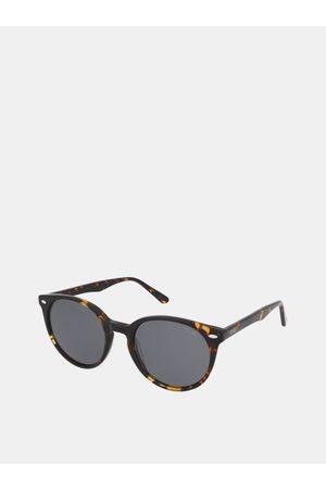 crullé Hnědé dámské vzorované sluneční brýle